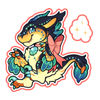 4435-magic-aquamarine-gem-raptor-sticker
