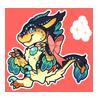 4435-magic-aquamarine-gem-raptor-sticker